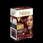 Безаміачна крем-фарба для волосся Nisha Бургунді №3.16 з маслом авокадо