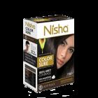 Безаміачна крем-фарба для волосся Nisha Світло-Чорна №1,5 з маслом авокадо