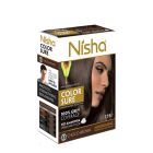 Безаміачна крем-фарба для волосся Nisha Коричнева №4 з маслом авокадо